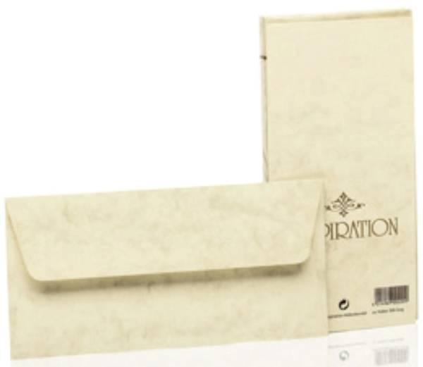 Briefhülle Inspiration DL, 20 Stück, chamois marmora