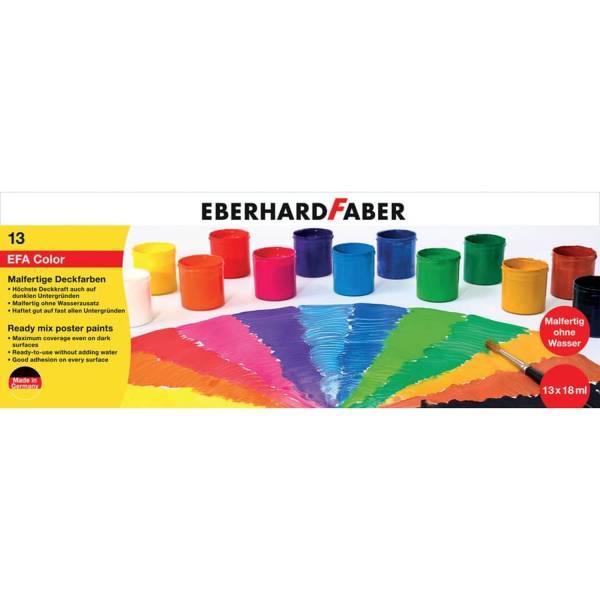 EBERHARD FABER Malfertige Deckfarben 13ST/ 18ml sortier 575613