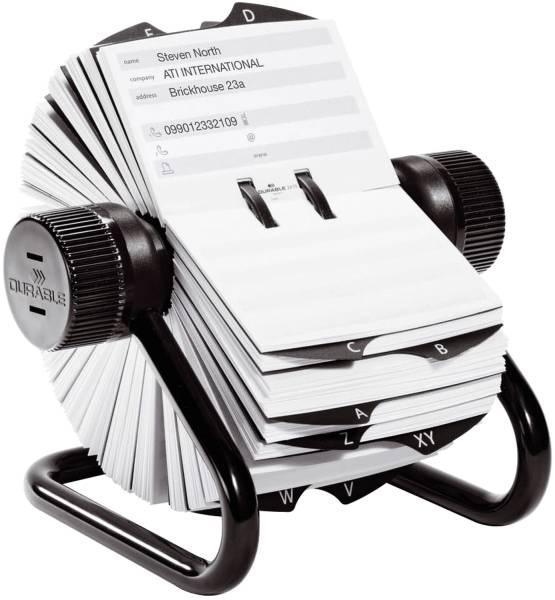 DURABLE Rollkartei schwarz 2482 01 TELINDEX