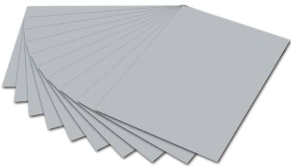 FOLIA Tonpapier A4 silber 6460 130g