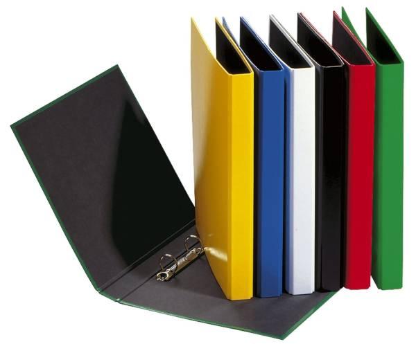 Ringbuch Basic Colours A4, 2 Ring, Ring Ø 20mm, grün