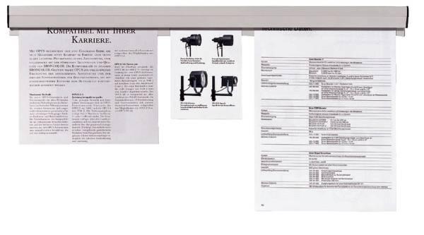 Papierklemmschiene, 118 x 4 cm, grau