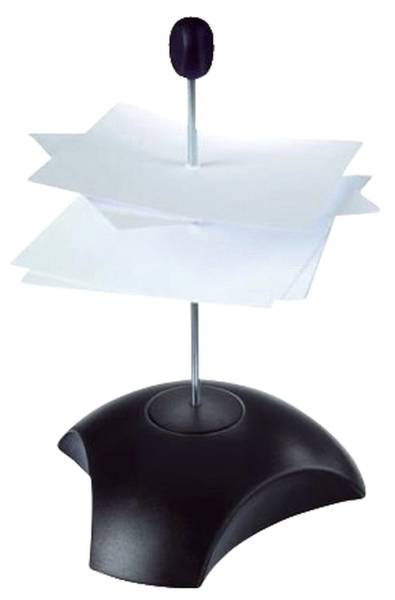 Zettelspießer DELTA mit Schutzkappe, schwarz