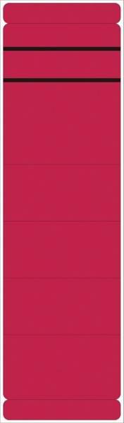 Ordner Rückenschilder breit lang, 10 Stück, rot