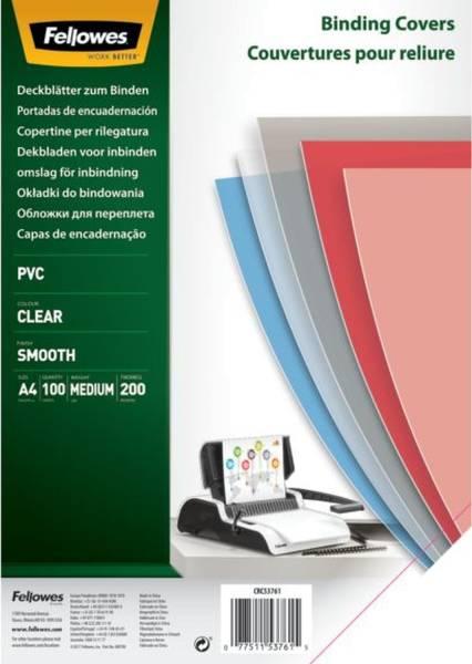 Deckblätter A4, PVC, transparent, 100 Stück