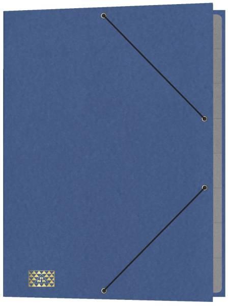 Konferenz und Ordnungsmappe 9 Fächer, A4, Karton, blau