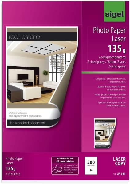Fotopapier für Farb Laser Kopierer A4, 2 seitig hochglänzend, 135 g qm, 200 Blatt