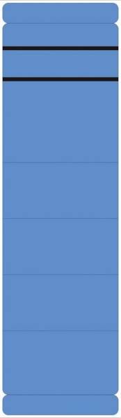 Ordner Rückenschilder breit kurz, 10 Stück, blau