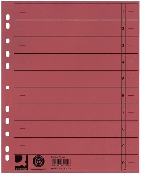 Trennblätter durchgefärbt A4 Überbreite, rot, 100 Stück