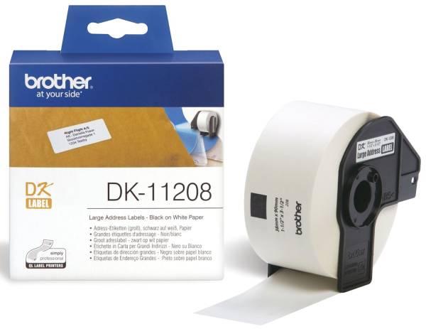 BROTHER Transferetiketten 38x90mm DK11208 RL=400Et