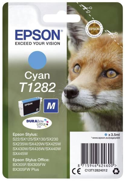EPSON Inkjetpatrone T1282 cyan C13T12824012 3,5ml