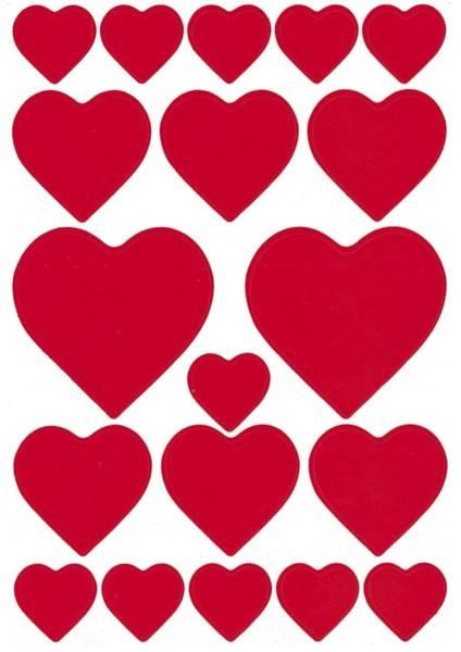 3827 Sticker DECOR Herzen rot