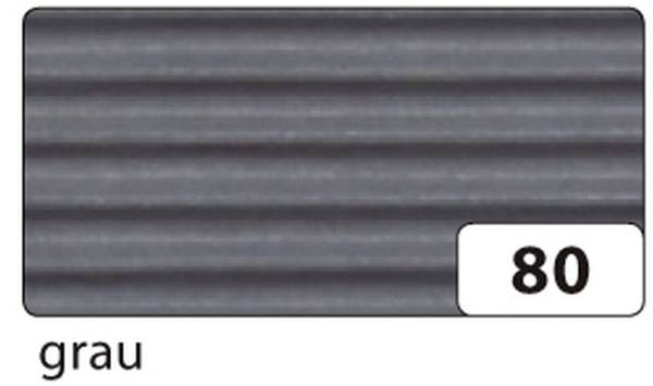 Bastelwellpappe 50 x 70 cm, grau
