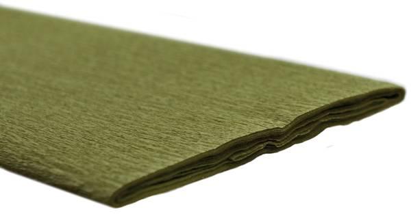 Krepppapier 50 x 250 cm olivgrün