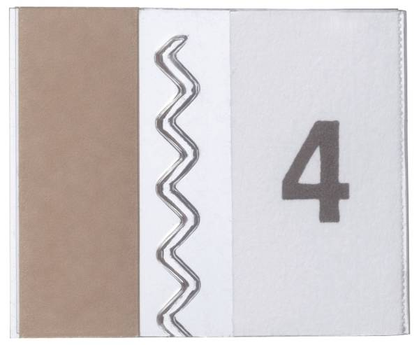Selbstklebe Vollsichtreiter TABFIX, 200 x 10 mm, 2 zeilig, transparent, 5 Stück®