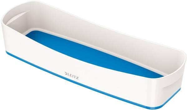 Ablageschale MyBox lang weiß blau