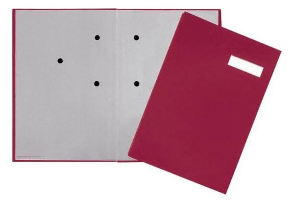 Unterschriftsmappe 20 Fächer, rot