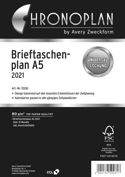 CHRONOPLAN Brieftaschenplaner A5 2021 50261