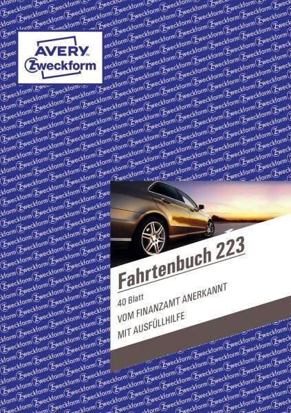 AVERY ZWECKFORM Fahrtenbuch A5/40BL 223
