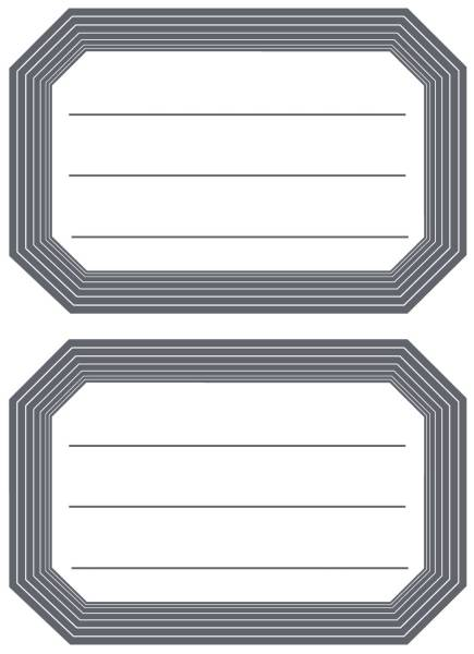 HERMA Buchschild 82x55 mm grauer Rand liniert 5719 12 Stück permanent