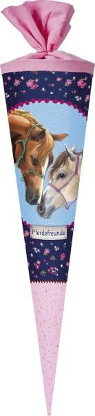 NESTLER Schultüte 70cm Pferdefreunde 2 rosa 5702872/5708472 Filzverschl.