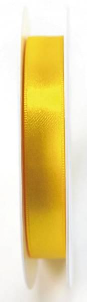 Doppelsatinband 15 mm x 25 m, gelb