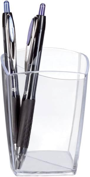 Stifteköcher Happy glasklar, 74 x 74 x 95 mm