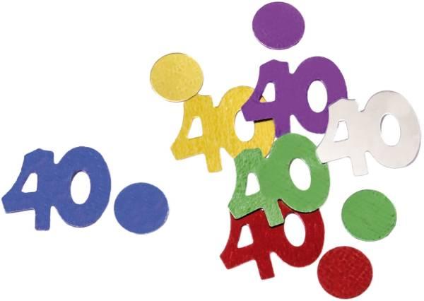Konfetti Zahl 40 bunt 4099 10gr 40