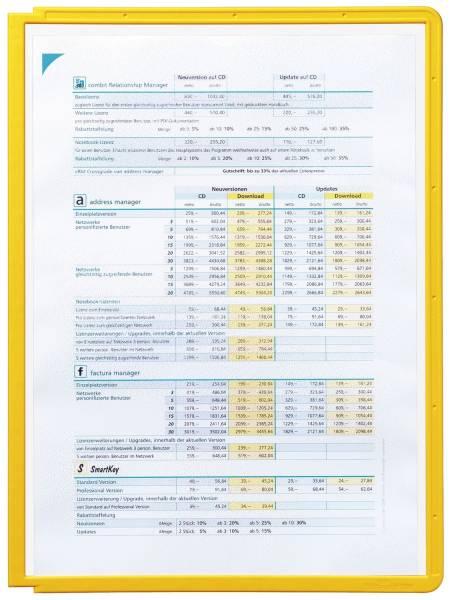 Sichttafel SHERPA PANEL A4, gelb®