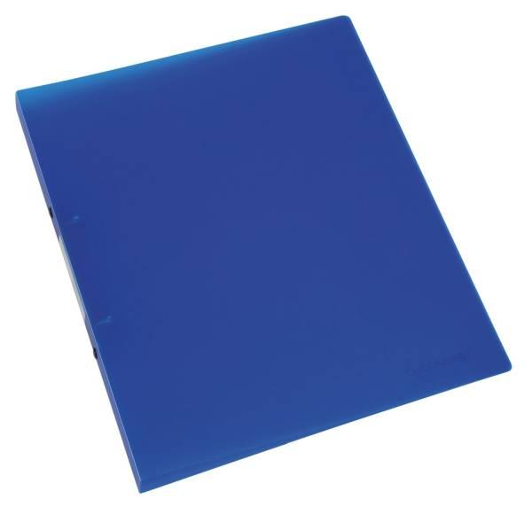Ringbuch transparent A4, 2 Ring, Ring Ø 16 mm, blau transparent