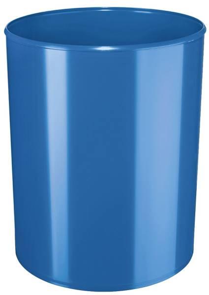 Papierkorb i Line 13 Liter, hochglänzend, rund, New Colours blau