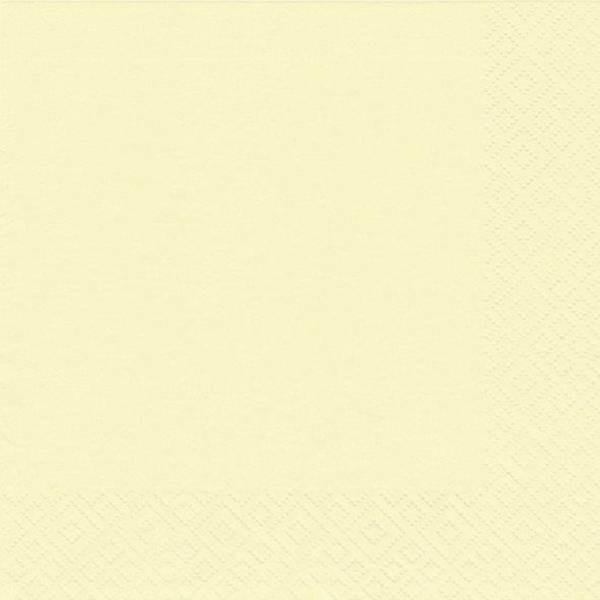 Serviette Zelltuch uni 33 x 33 cm creme