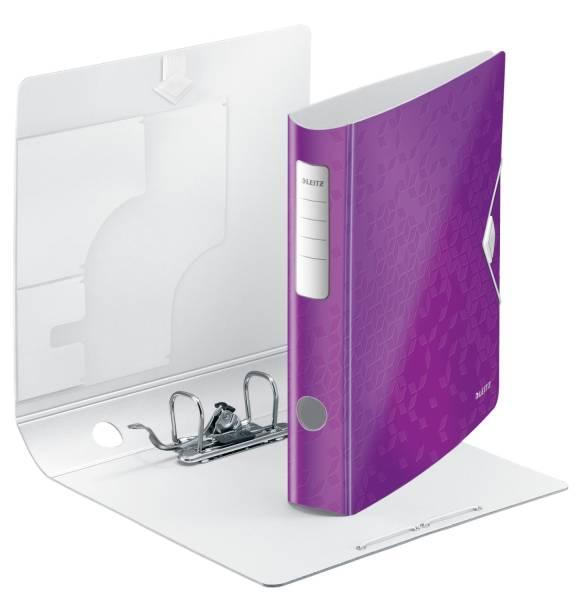 LEITZ Ordner A4 6cm Active violett met. 1107-00-62 Wow PP