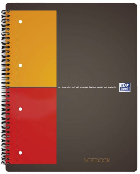 International Notebook Hardcover, A4+, kariert, 80 Blatt, grau