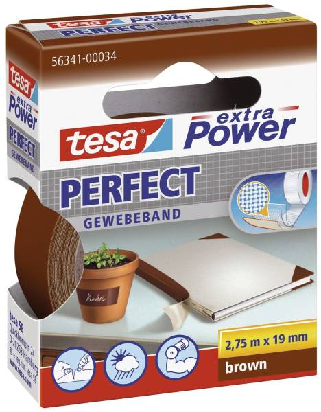 Gewebeklebeband extra Power Gewebeband, 2,75 m x 19 mm, braun