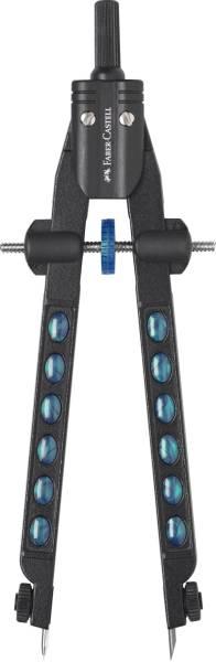 FABER CASTELL Schnellverstellzirkel Factory pearl blue 174340 / 2020