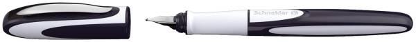 Füller Ray Linkshänder, Patrone, M, tiefblau hellgrau