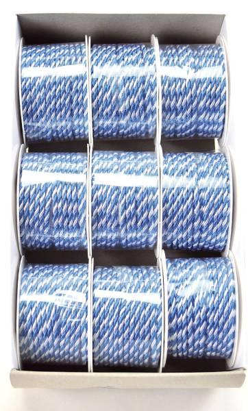 Kordel 3 mm x 25 m, weiß blau
