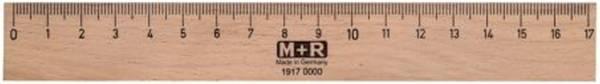 Holzlineal 17 cm