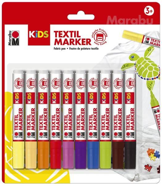 MARABU Stoffmalfarbe Kids Set 10ST sort. 03140 000 00002