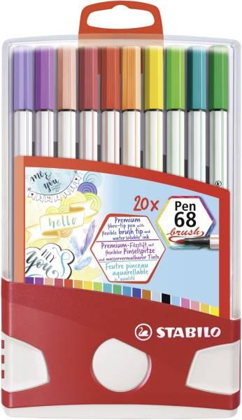 Fasermaler Pen 68 brush 20 Stück sortiert