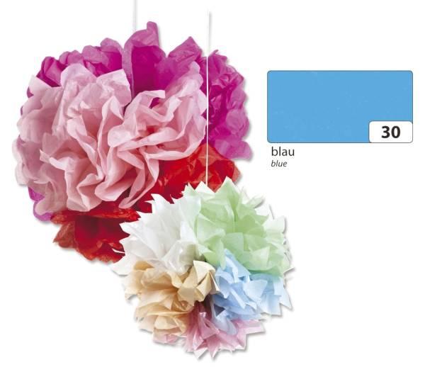 FOLIA Blumenseide 50x70cm blau 91030 20g 5Bg