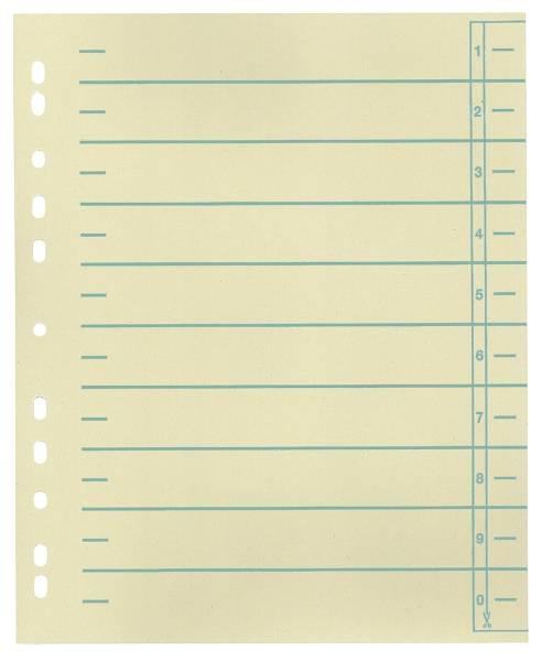 Trennblätter, farbiger Organisationsdruck A4 Überbreite Überbreite, grün, 100 Stück