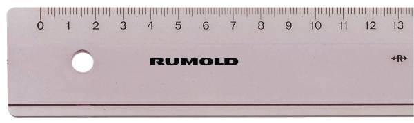 RUMOLD Plastiklineal 30cm transp FL 41 Luran