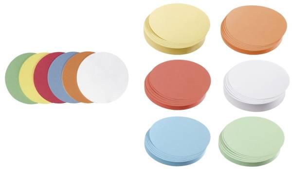 Moderationskarte Kreis klein, 95 mm, sortiert, 500 Stück
