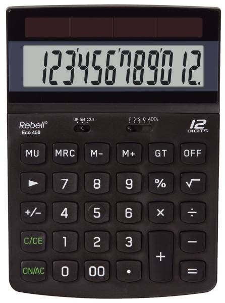 REBELL Taschenrechner ECO 450 132x184x34mm BxHxT