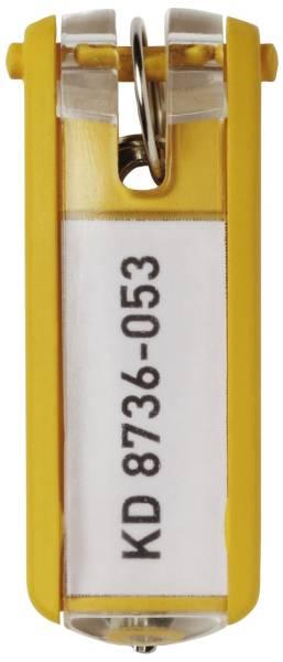 DURABLE Schlüsselanhänger gelb 1957 04 6ST KEY CLIP