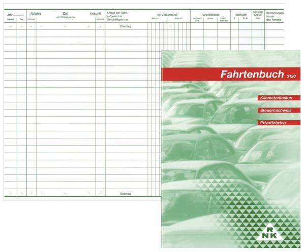 Fahrtenbuch für Pkw 64 Seiten, A5