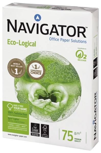NAVIGATOR Kopierpapier A4 75g 500Bl weiß Eco-Logical 82467A75S