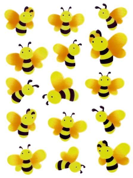 6038 Sticker MAGIC Bienen, Neon